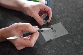 Reparatie graniet aanrechtblad